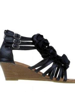 Sandale dama Asher negre - Incaltaminte Dama - Sandale Dama
