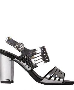 Sandale dama Audrey argintii - Incaltaminte Dama - Sandale Dama