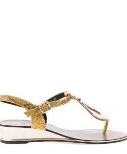 Sandale dama Auricht galbene - Incaltaminte Dama - Sandale Dama