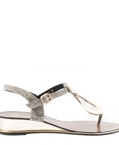 Sandale dama Auricht gri inchis - Incaltaminte Dama - Sandale Dama
