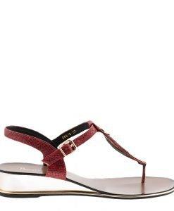 Sandale dama Auricht rosii - Incaltaminte Dama - Sandale Dama