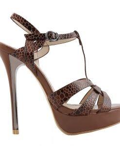 Sandale dama Avaline camel - Incaltaminte Dama - Sandale Dama