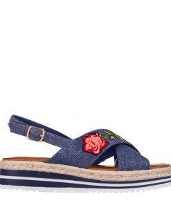 Sandale dama Badde albastre - Incaltaminte Dama - Sandale Dama
