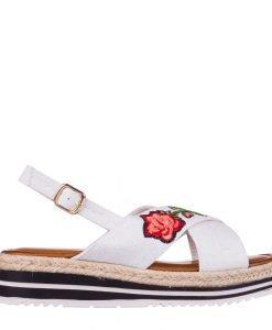 Sandale dama Badde albe - Incaltaminte Dama - Sandale Dama