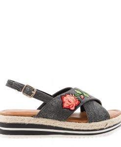 Sandale dama Badde negre - Incaltaminte Dama - Sandale Dama