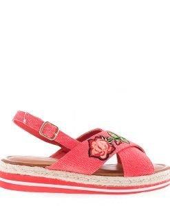Sandale dama Badde rosii - Incaltaminte Dama - Sandale Dama