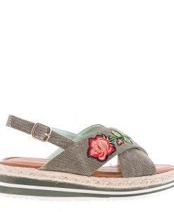 Sandale dama Badde verzi - Incaltaminte Dama - Sandale Dama