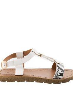Sandale dama Boucher albe - Incaltaminte Dama - Sandale Dama