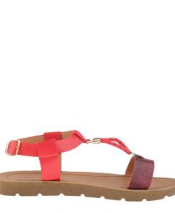 Sandale dama Boucher rosii - Incaltaminte Dama - Sandale Dama