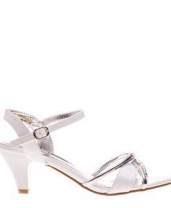 Sandale dama Bridgette albe - Incaltaminte Dama - Sandale Dama