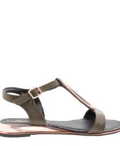 Sandale dama Broom khaki - Incaltaminte Dama - Sandale Dama