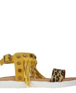 Sandale dama Brya galbene - Incaltaminte Dama - Sandale Dama