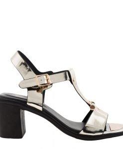 Sandale dama Caitlyn aurii - Incaltaminte Dama - Sandale Dama