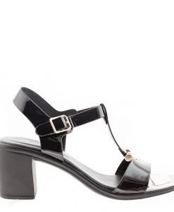 Sandale dama Caitlyn negre - Incaltaminte Dama - Sandale Dama