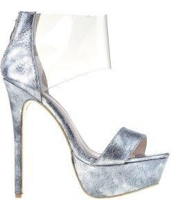 Sandale dama Candice gri - Incaltaminte Dama - Sandale Dama