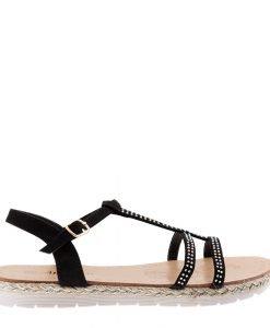 Sandale dama Carlie negre - Incaltaminte Dama - Sandale Dama