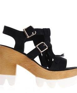 Sandale dama Cary negre - Incaltaminte Dama - Sandale Dama