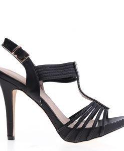 Sandale dama Cassia negre - Incaltaminte Dama - Sandale Dama