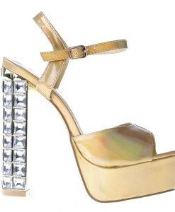 Sandale dama Chantel aurii - Incaltaminte Dama - Sandale Dama