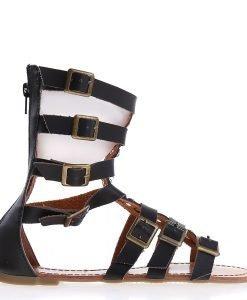 Sandale dama Charley negre - Incaltaminte Dama - Sandale Dama