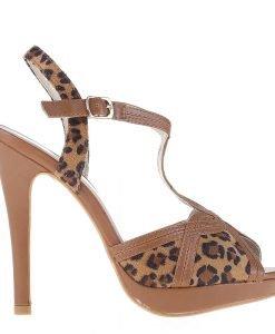 Sandale dama Chenille camel - Incaltaminte Dama - Sandale Dama