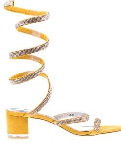Sandale dama Cline galbene - Incaltaminte Dama - Sandale Dama