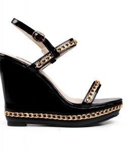 Sandale dama Maggie negre - Promotii - Lichidare Stoc