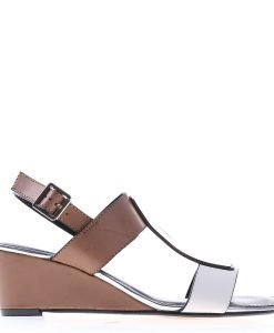 Sandale dama cu platforma Alejandra albe - Incaltaminte Dama - Sandale Dama