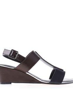 Sandale dama cu platforma Alejandra negre - Incaltaminte Dama - Sandale Dama