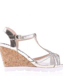 Sandale dama cu platforma Amirah aurii - Incaltaminte Dama - Sandale Dama