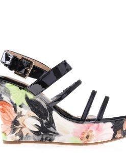 Sandale dama cu platforma FE401 negre - Incaltaminte Dama - Sandale Dama