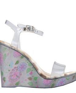 Sandale dama cu platforma Goul gri - Incaltaminte Dama - Sandale Dama