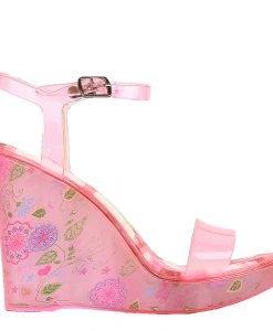 Sandale dama cu platforma Goul roz corai - Incaltaminte Dama - Sandale Dama