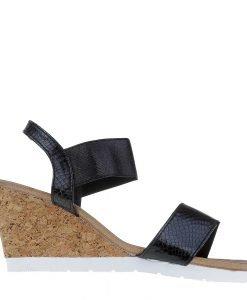 Sandale dama cu platforma Hazel negre - Incaltaminte Dama - Sandale Dama