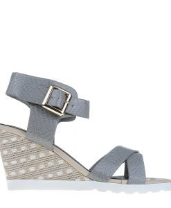 Sandale dama cu platforma Judy gri - Incaltaminte Dama - Sandale Dama