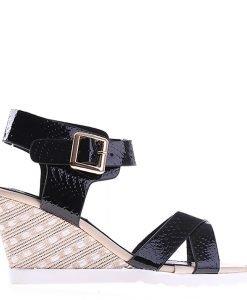 Sandale dama cu platforma Judy negre - Incaltaminte Dama - Sandale Dama