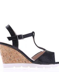 Sandale dama cu platforma K59 negre - Incaltaminte Dama - Sandale Dama