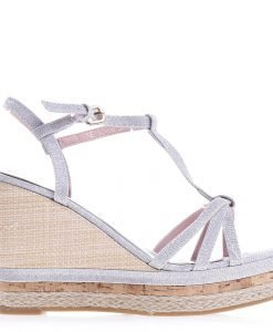 Sandale dama cu platforma Kaja argintii - Incaltaminte Dama - Sandale Dama