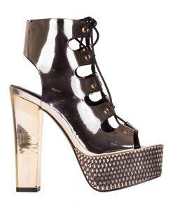 Sandale dama cu platforma Laney aurii - Incaltaminte Dama - Sandale Dama