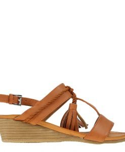 Sandale dama cu platforma Moya camel - Incaltaminte Dama - Sandale Dama