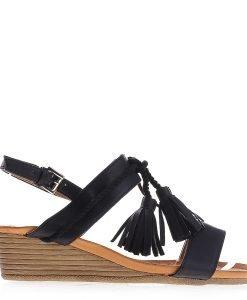 Sandale dama cu platforma Moya negre - Incaltaminte Dama - Sandale Dama