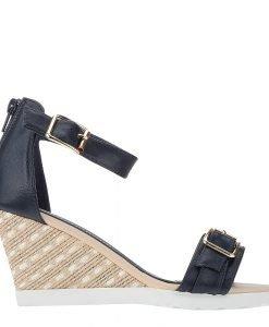 Sandale dama cu platforma Rylee albastre - Incaltaminte Dama - Sandale Dama