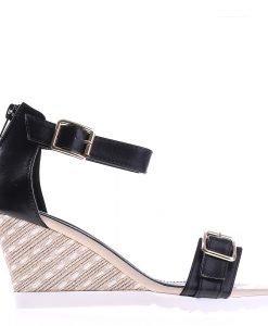 Sandale dama cu platforma Rylee negre - Incaltaminte Dama - Sandale Dama