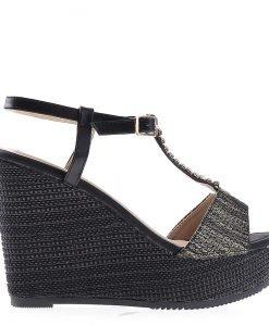Sandale dama cu platforma Tanisha negre - Incaltaminte Dama - Sandale Dama