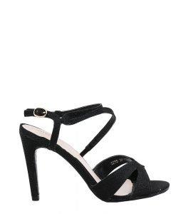 Sandale dama cu toc Emilee negre - Incaltaminte Dama - Sandale Dama