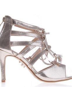 Sandale dama cu toc F53 aurii - Incaltaminte Dama - Sandale Dama