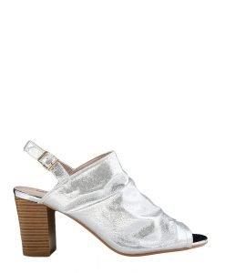 Sandale dama cu toc Kendal argintii - Incaltaminte Dama - Sandale Dama