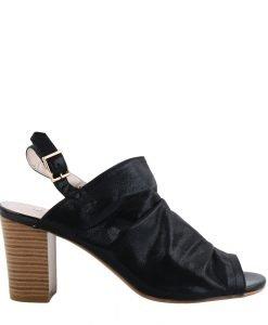 Sandale dama cu toc Kendal negre - Incaltaminte Dama - Sandale Dama