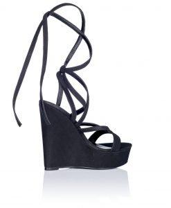 Sandale negre cu snur si platforma Negru - Incaltaminte - Incaltaminte / Sandale