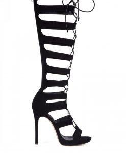 Sandale negre cu toc Negru - Incaltaminte - Incaltaminte / Sandale